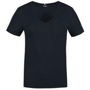 Camiseta de mujer Le Coq Sportif terre battue col v