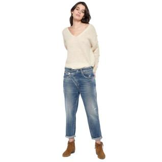 Pantalones vaqueros boyfit de mujer Le temps des cerises Cosy