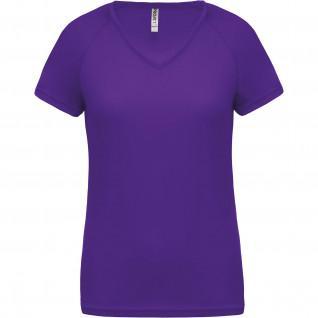 Camiseta de mujer con cuello de pico Proact Sport