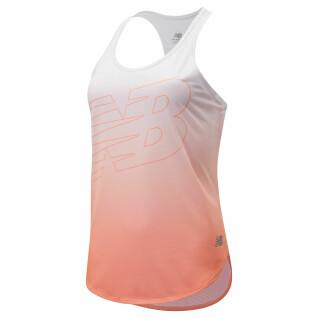 Camiseta de tirantes para mujer New Balance printed accelerate